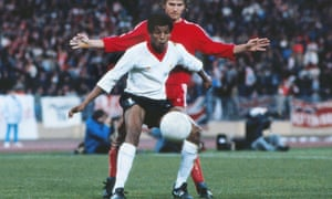 Howard Gayle playing for Liverpool against Bayern Munich in 1981