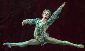 'Trailing clouds of green chiffon': Steven McRae as Oberon in The Dream.