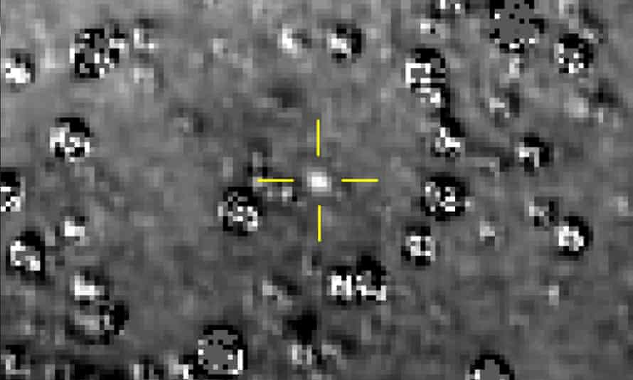 Ultima Thule with stars surrounding it