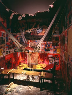 The Man Who Flew Into Space From His Apartment by Ilya Kabakov, 1985