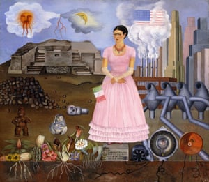 Frida Kahlo's Self Portrait on the Border between Mexico and the United States of America, 1932.