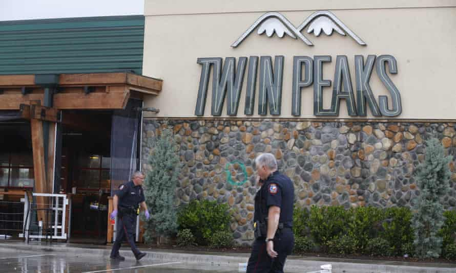 """Swanton said that the inside of Twin Peaks was a """"pretty nasty scene"""" with """"blood spatter everywhere"""", especially in the bathroom."""