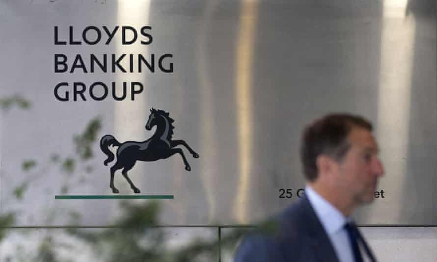 Entrance to the headquarters of Lloyds Banking Group