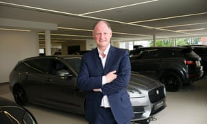 Andy Bruce, chief executive of Lookers, at the glitzy west London dealership.