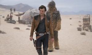 Alden Ehrenreich and Joonas Suotamo in Solo: A Star Wars Story.