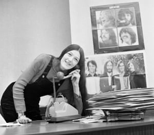 Freda Kelly in Liverpool, at the Beatles Official Fan Club office.