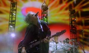 Springsteen-esque energy … Robert Smith in Hyde Park, London.