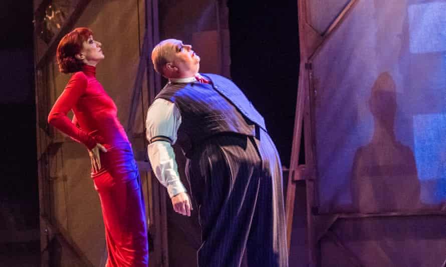 Haydn Gwynn and Nick Holder in The Threepenny Opera.