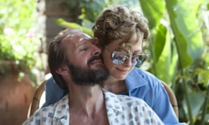 Exquisite unease ... A Bigger Splash with Ralph Fiennes and Tilda Swinton.