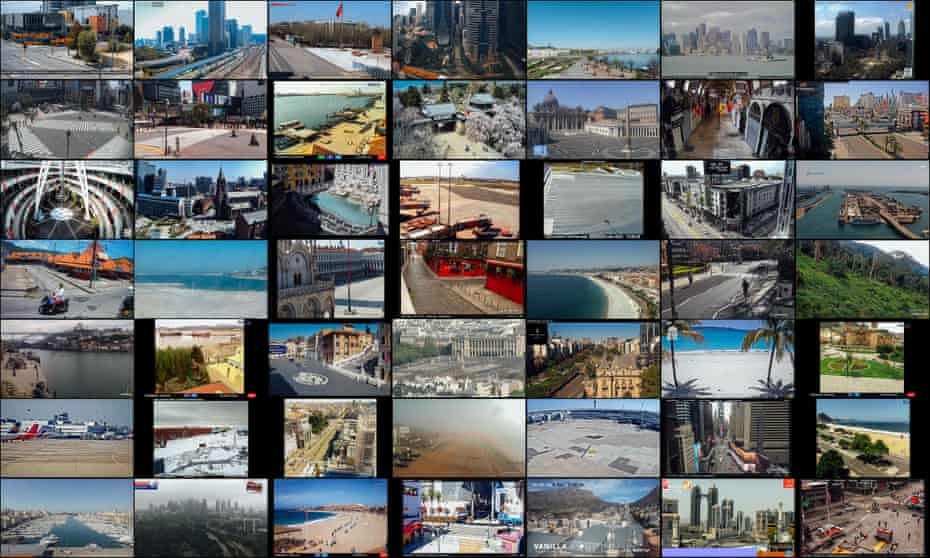 Webcams capture images from around the globe on 4 April 2020, 12 pm