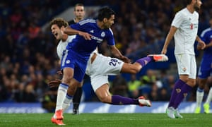 Chelsea's Radamel Falcao looked off the pace and out of sorts in his side's defeat to Fiorentina just three days before the start of the Premier League season