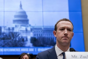 Facebook CEO Mark Zuckerberg pauses while testifying before Congress.