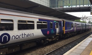 A Northern train at Liverpool South Parkway station.