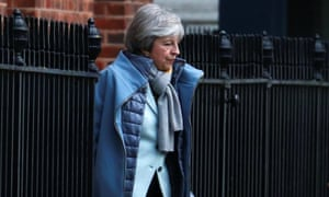 Prime minister Theresa May leaves Downing Street on 18 January.