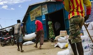 Outside of Mesfin's store