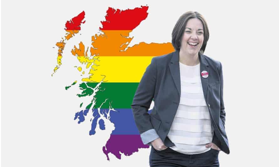 Kezia Dugdale and a rainbow map of Scotland