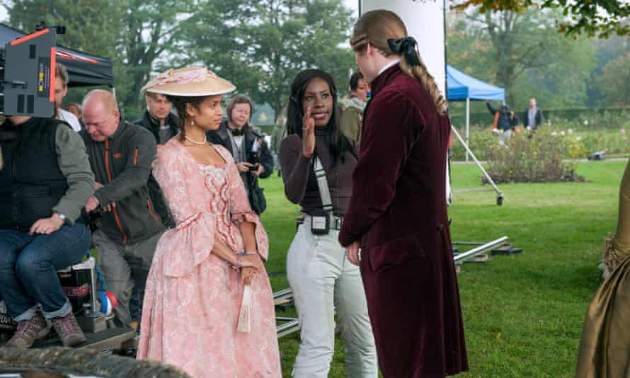 Asante on the set of her 2013 film Belle
