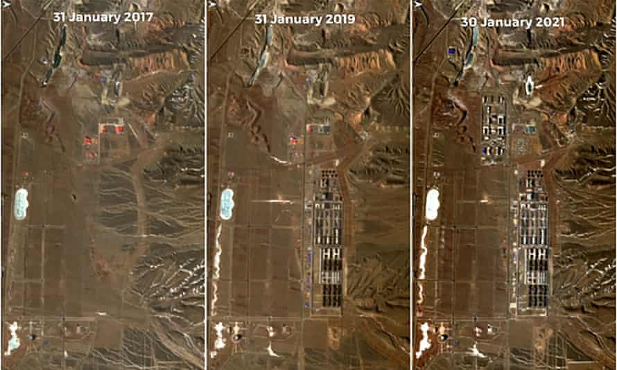 Satellite images released in February by Copernicus, the EU Earth observation programme, show a detention facility near Dabancheng, Xinjiang.