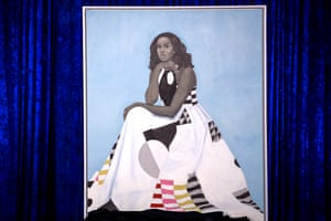 Michelle Obama's official portrait, painted by Amy Sherald.