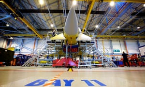 BAE workers building Typhoon fighter jets in Lancashire.