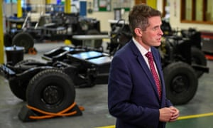 Gavin Williamson on a visit to MOD St Athan
