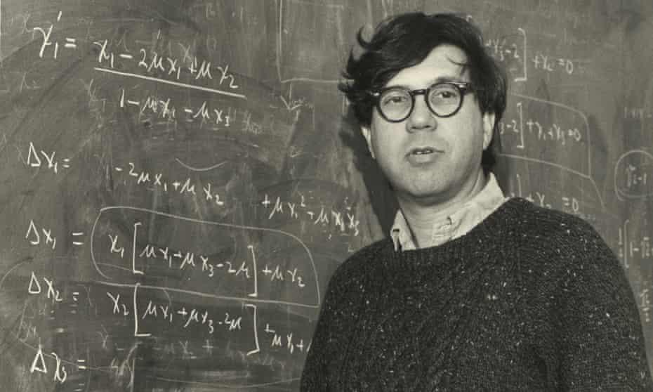 Richard Lewontin at blackboard