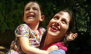 Nazanin Zaghari-Ratcliffe embraces her daughter Gabriella following a brief release from prison last year.