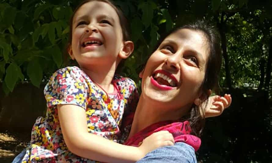 Nazanin Zaghari-Ratcliffe embracing her daughter Gabriella following her release from prison for three days in August 2018.