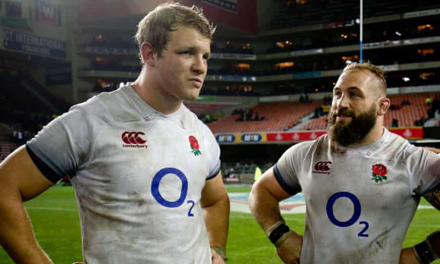 Joe Launchbury (left) and Joe Marler have withdrawn from England's Six Nations squad in a blow to head coach Eddie Jones's plans.