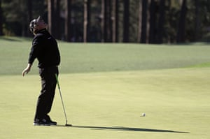 William McGirt of the United States reacts to a missed putt for birdie on the 8th