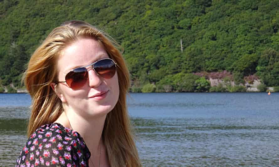 Emily Whelan next to lake