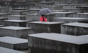Witness to a crime that cannot be rectified ... the Holocaust Memorial in Berlin.