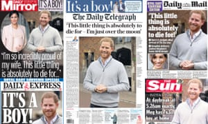 How Tuesday's newspaper front pages greeted the royal birth