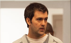 Former South Carolina police officer Michael Slager walks to the defense table during his bond hearing.