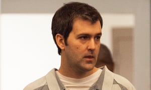 Michael Slager is seen during his bond hearing in Charleston, South Carolina.