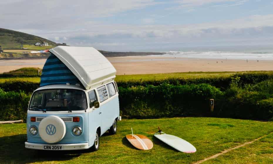 campervan at Ocean pitch campsite