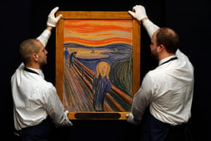 Edvard Munch's painting The Scream at Sotheby's auction house in London in April 2012.