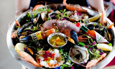 The River Exe Cafe's bestselling seafood platter.