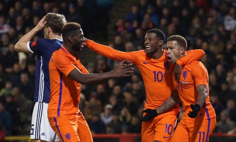 Holland's Memphis Depay sinks Scotland on Malky Mackay's debut