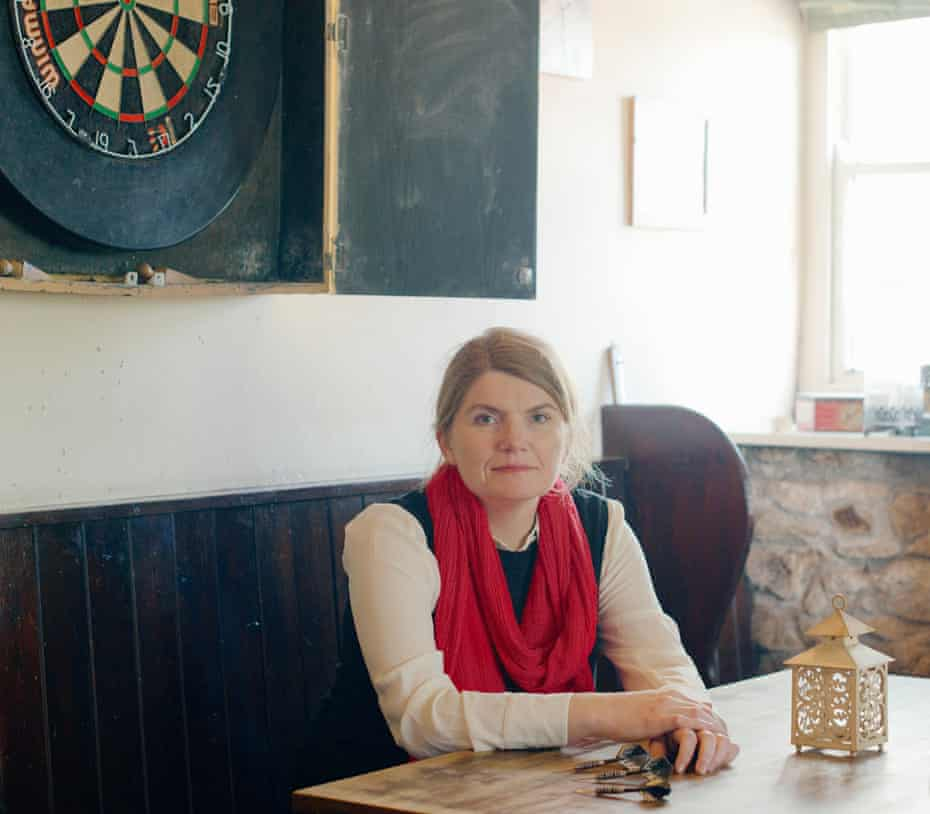 Author Cathy Rentzenbrink at the Stag Hunt Inn, Ponsanooth, Cornwall, April 2019