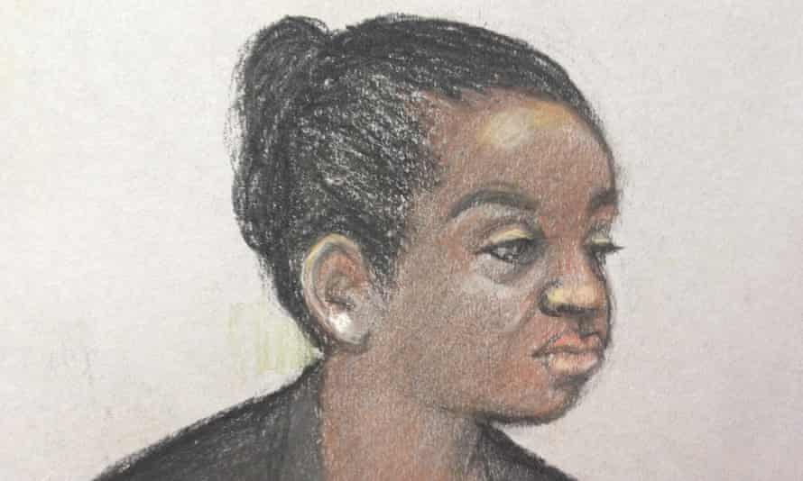 Sketch of Agnes Taylor during her court appearance