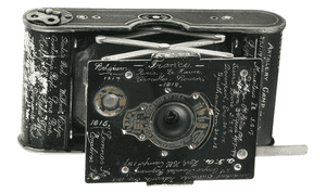 The Kodak Vest pocket camera. This one was owned by Sergeant Percy Virgoe of the 4th Light Horse Regiment.