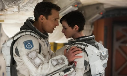 Matthew McConaughey and Anne Hathaway in Interstellar.