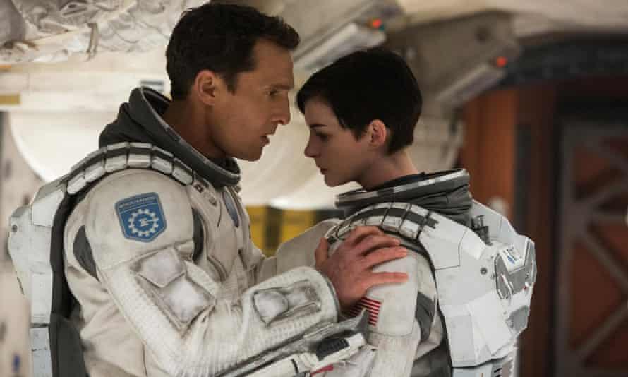 Matthew McConaughey and Anne Hathaway in Interstellar.