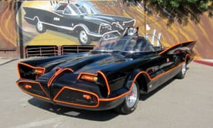 The Batmobile, as seen in the 1960s television series.