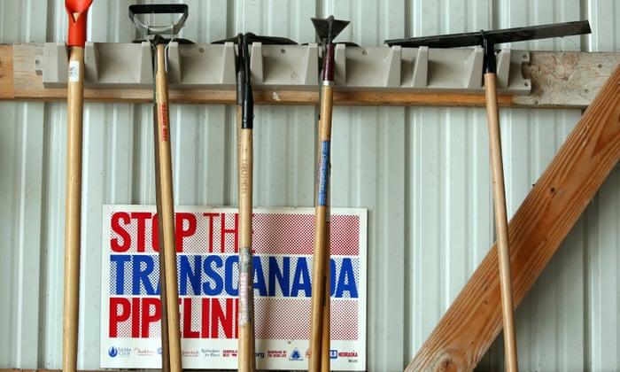 An anti-pipeline sign in Neligh, Nebraska.