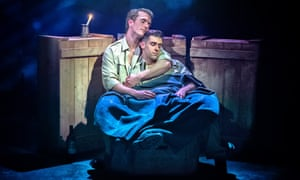 Exceptional work … Barnaby Hughes as Mitch and Scott Hunter as Stu.