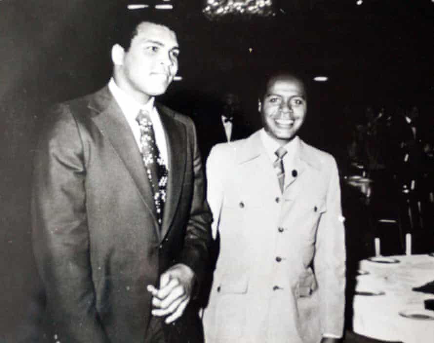 Stephenson with Ali in 1975.