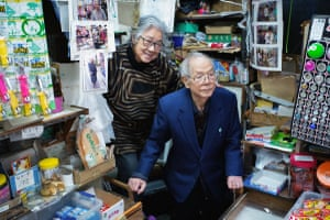 Now 92, this woman runs a little children's sweet and toy shop