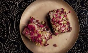 Sour cherry and pistachio baklava